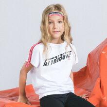 安踏儿童2019新款到底都留着唐家夏季潮流系列女中大童织带短袖短T