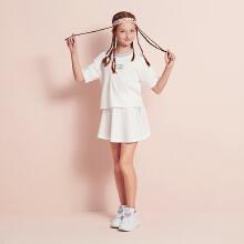 安踏儿童2019新款夏季女中大童短裙套装