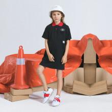 安踏儿童2019新款夏季女中大童潮流系列polo连衣裙