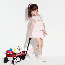 安踏儿童2019夏季新款女童运动套装短裙套装