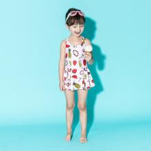 安踏儿童2019新款夏季小童女连体泳衣套装