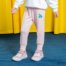 安踏儿童2019新款夏季女小童薄款针织长裤