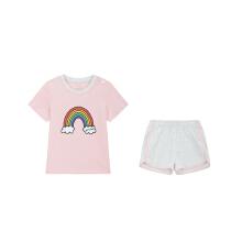 安踏儿童2019新款夏季婴童可爱短袖两件套套装