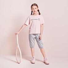 安踏儿童2019夏季新款史努比太空大童短袖运动套装