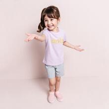 安踏儿童2019新款夏季女小童透气短T短袖