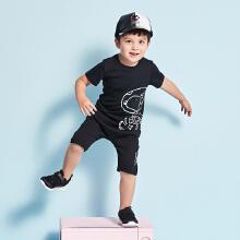 安踏儿童2019新款小童史努比短袖套装