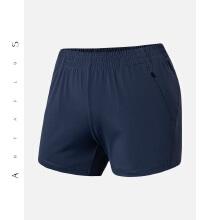 antaplus女轻薄舒适跑步裤健身裤运动短裤口袋拉链2019新款