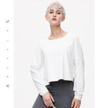 antaplus女瑜伽服运动上衣长Tt恤2019新款