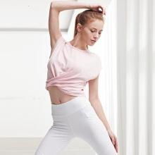 antaplus女子2019夏季宽松短款露脐瑜伽健身上衣短T