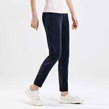 antaplus2019新款梭织运动长裤网孔修身休闲长裤女裤跑步裤